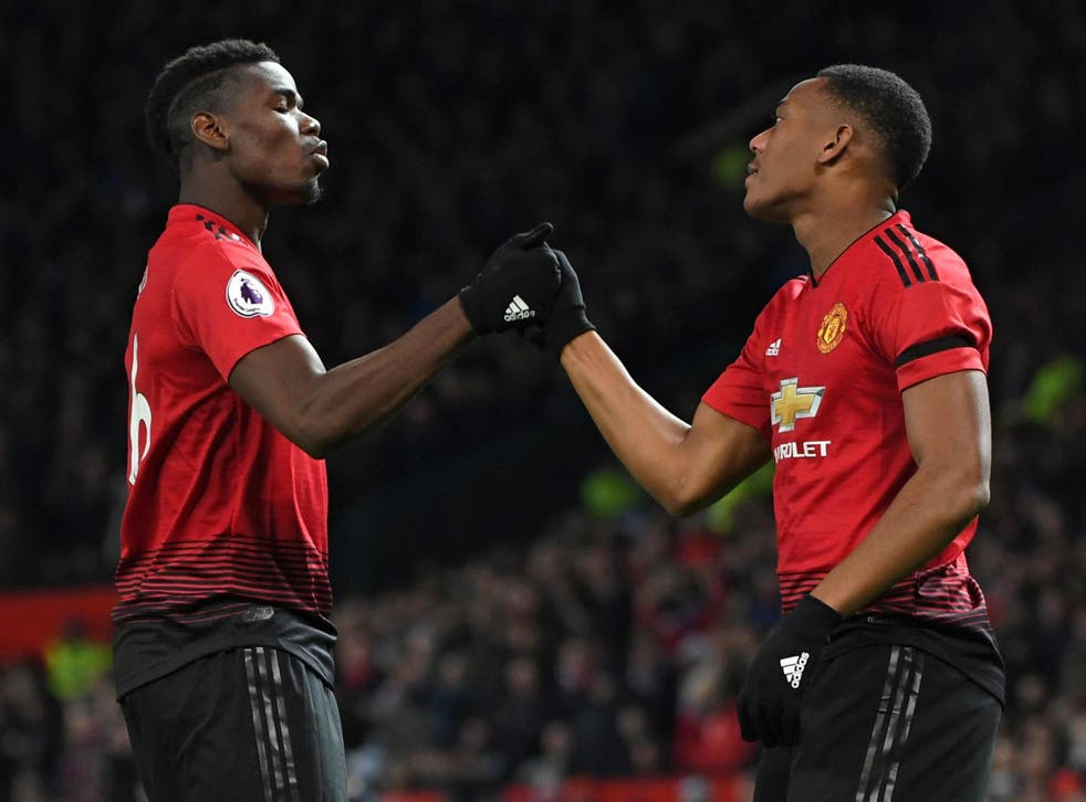 Paul Pogba and Anthony Martial were both on mark for United