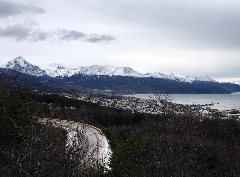 The coast of Ushuaia, a resort town in Argentina (file photo)