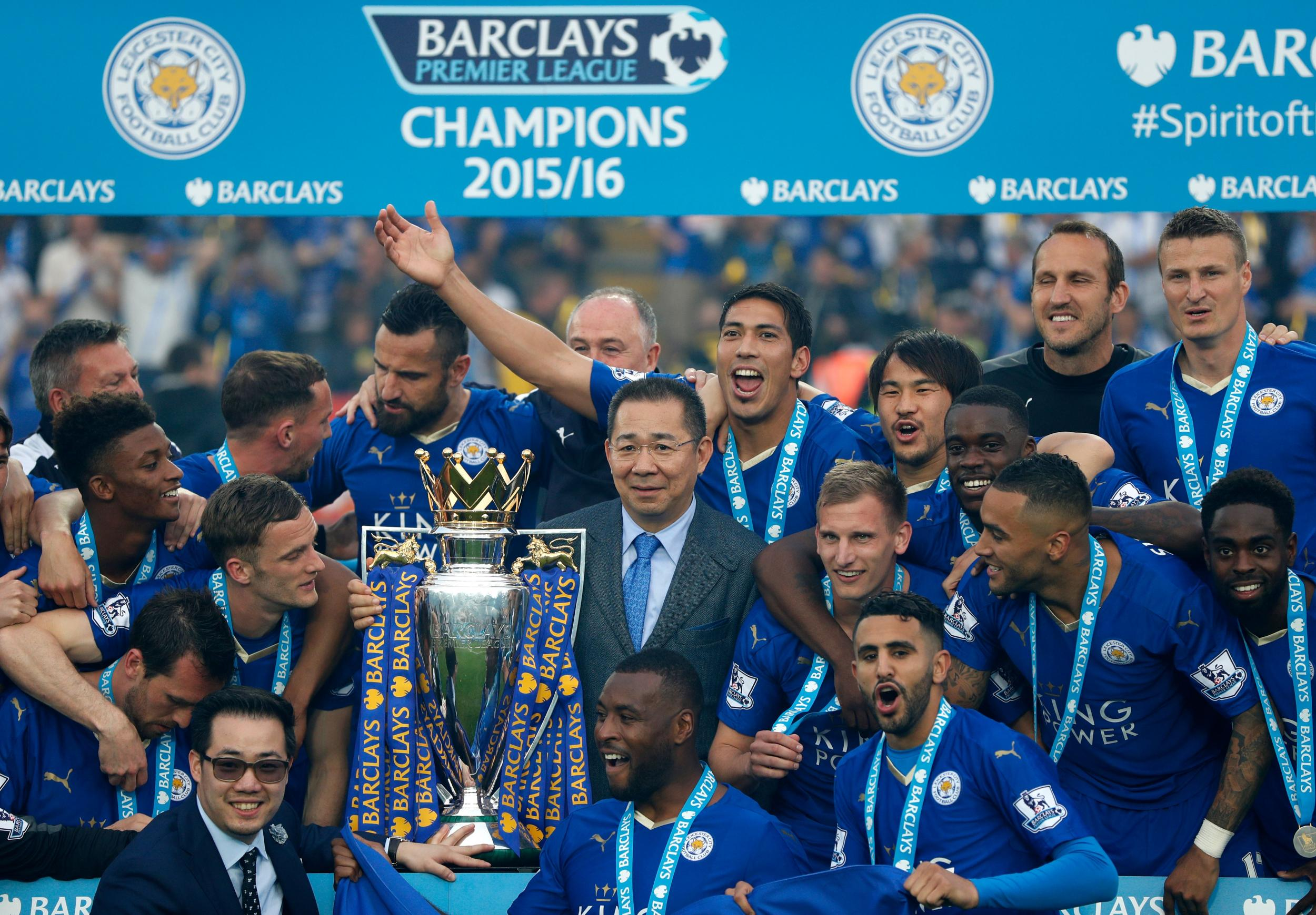 Image result for leicester vichai mahrez