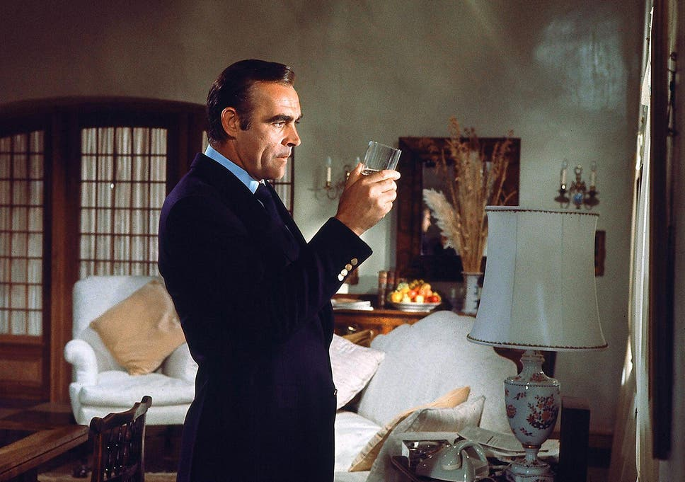 a97d2859882f Sean Connery in 'Diamonds Are Forever' with an essential scotch