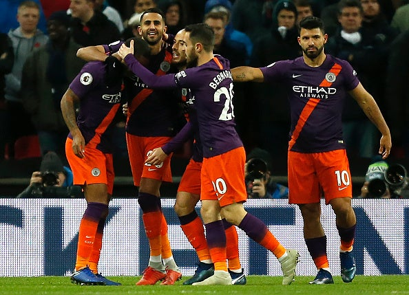 Tottenham Vs Manchester City Wembley Flaws Cost Spurs As Riyad Mahrez Gives City Deserved Win The Independent The Independent