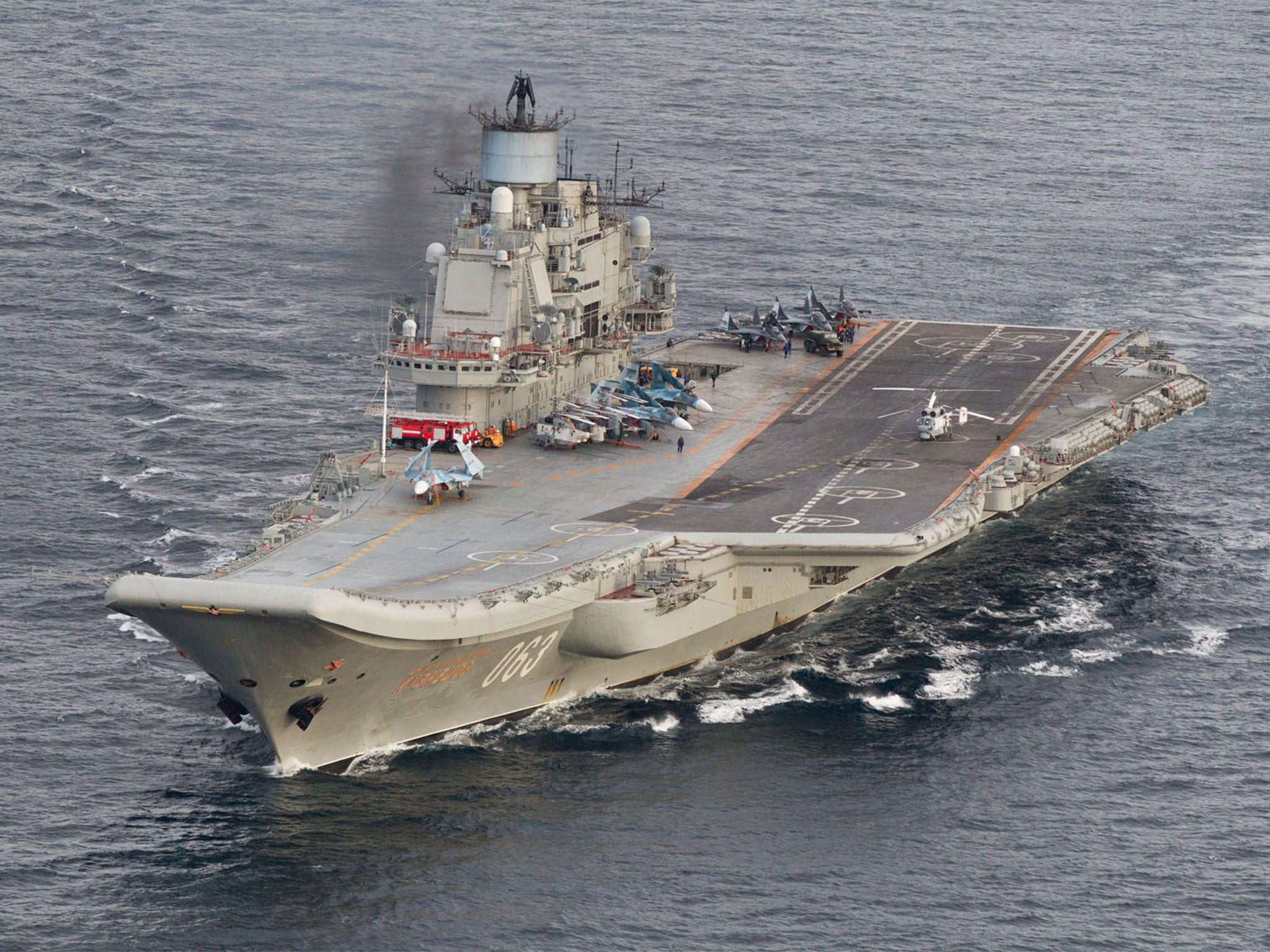 Russia's only aircraft carrier damaged while undergoing