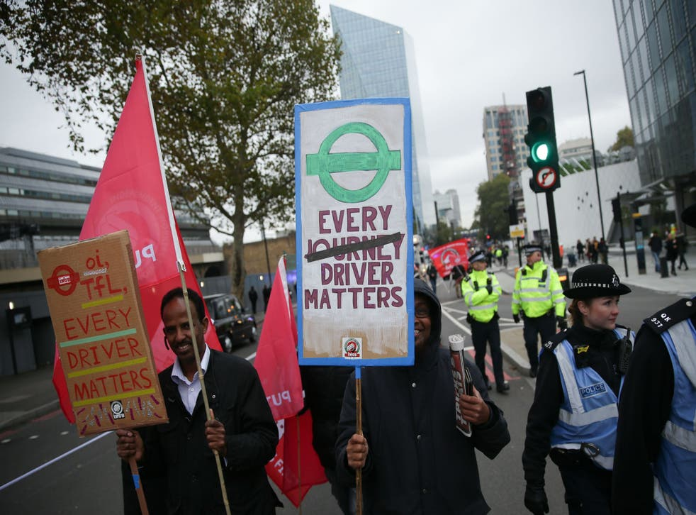 Uber drivers have repeatedly protested the terms and conditions imposed upon them