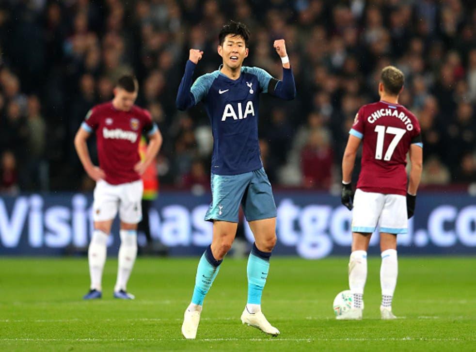 Son Heung-min scored Spurs opener at the London Stadium