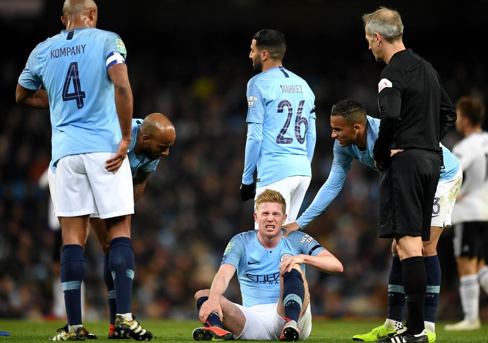 pretty nice 417f9 fbaa3 Manchester City vs Fulham: Kevin de Bruyne injury only cause ...