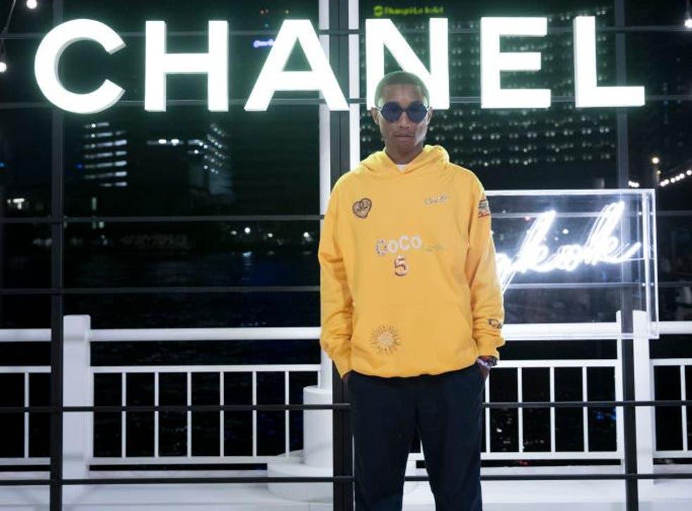 Pharrell Williams attends the Chanel Cruise 2018/19 Replica Show at Sermsuk Warehouse Pepsi Pier in Bangkok, Thailand