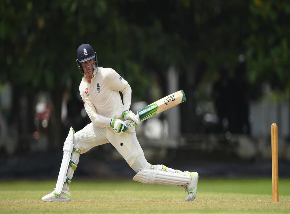 Keaton Jennings batted well on Friday in Colombo