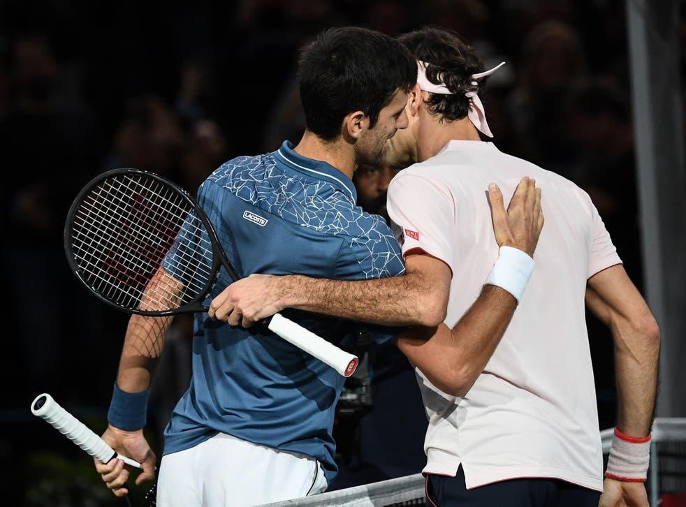 Novak Djokovic beat Roger Federer in the Paris Masters semi-final