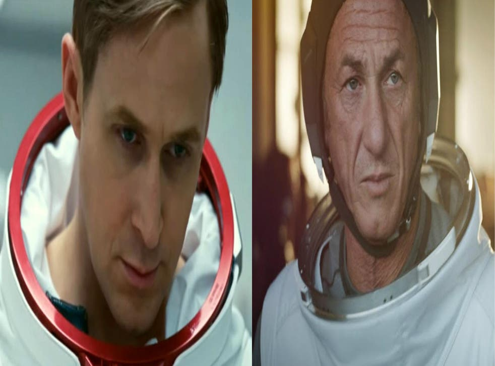 Ryan Gosling in 'First Man' and Sean Penn in 'The First'