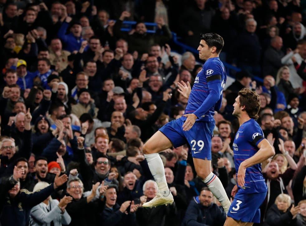 Alvaro Morata scored twice as Chelsea beat Crystal Palace 3-1