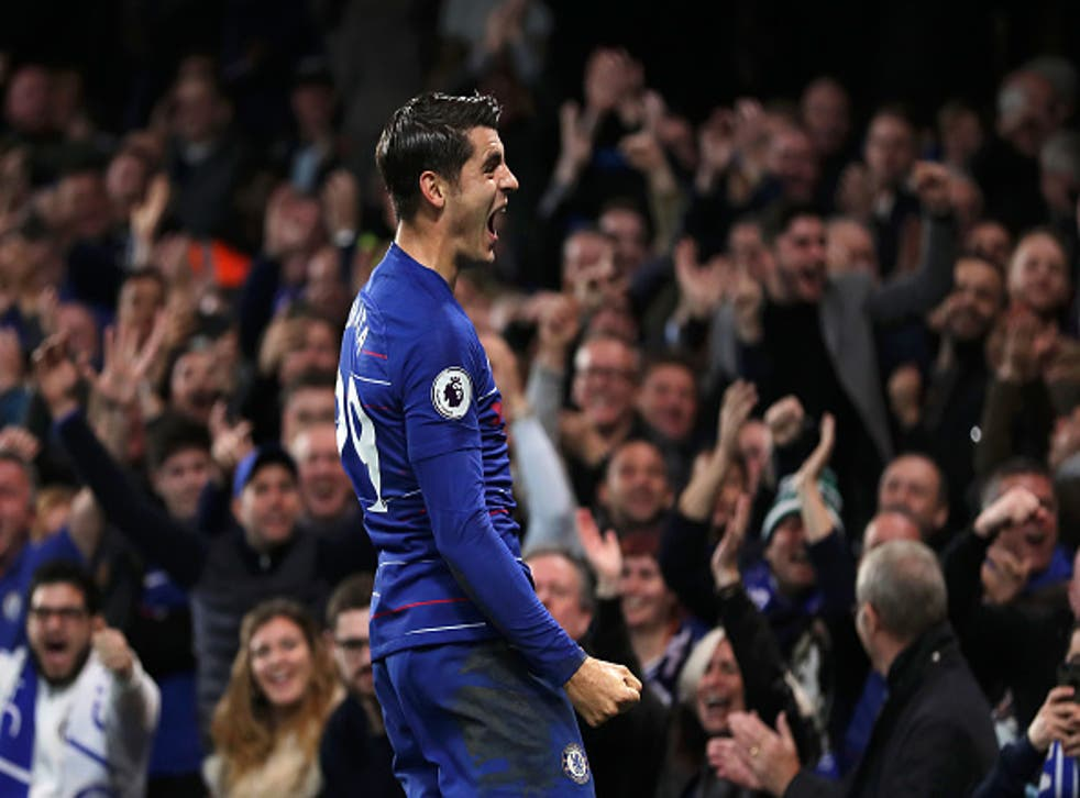 Alvaro Morata opened the scoring for Chelsea