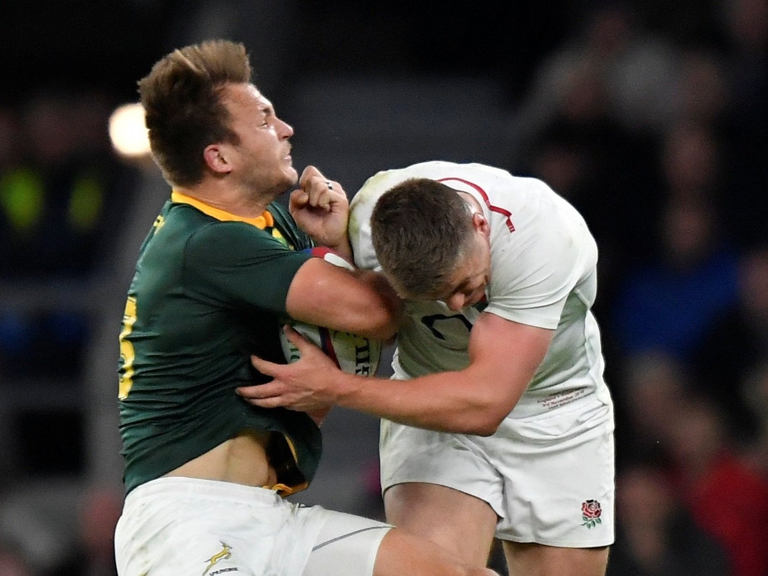 Rugby World Cup: Owen Farrell has adjusted his tackle technique following high-tackle controversies