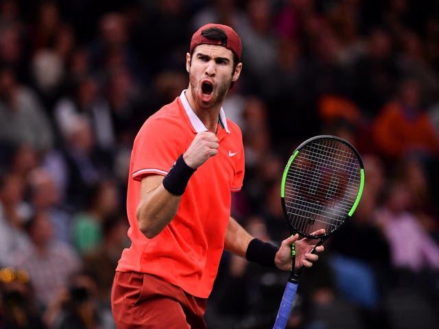 Karen Khachanov ended Novak Djokovic's 22-match unbeaten streak