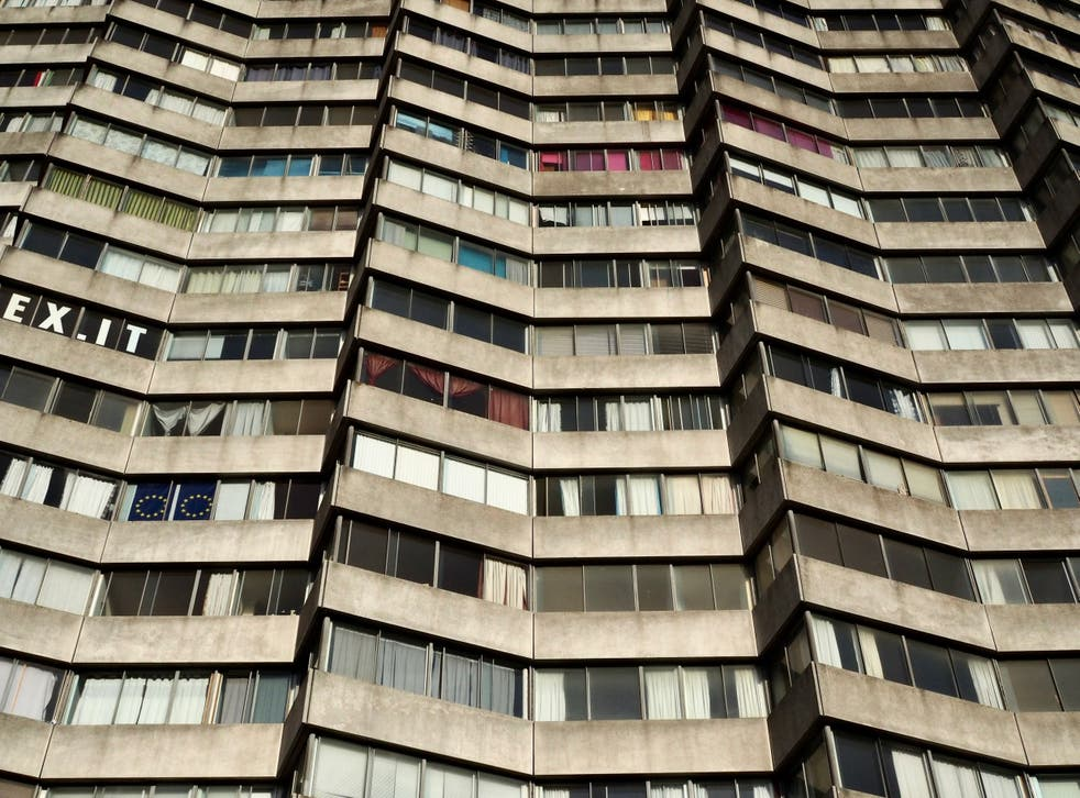 Margate residents display political messages in their high-rise windows, making the private realm public. But is it the whole picture?