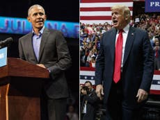 Trump and Obama make final plea to nation with opposing visions