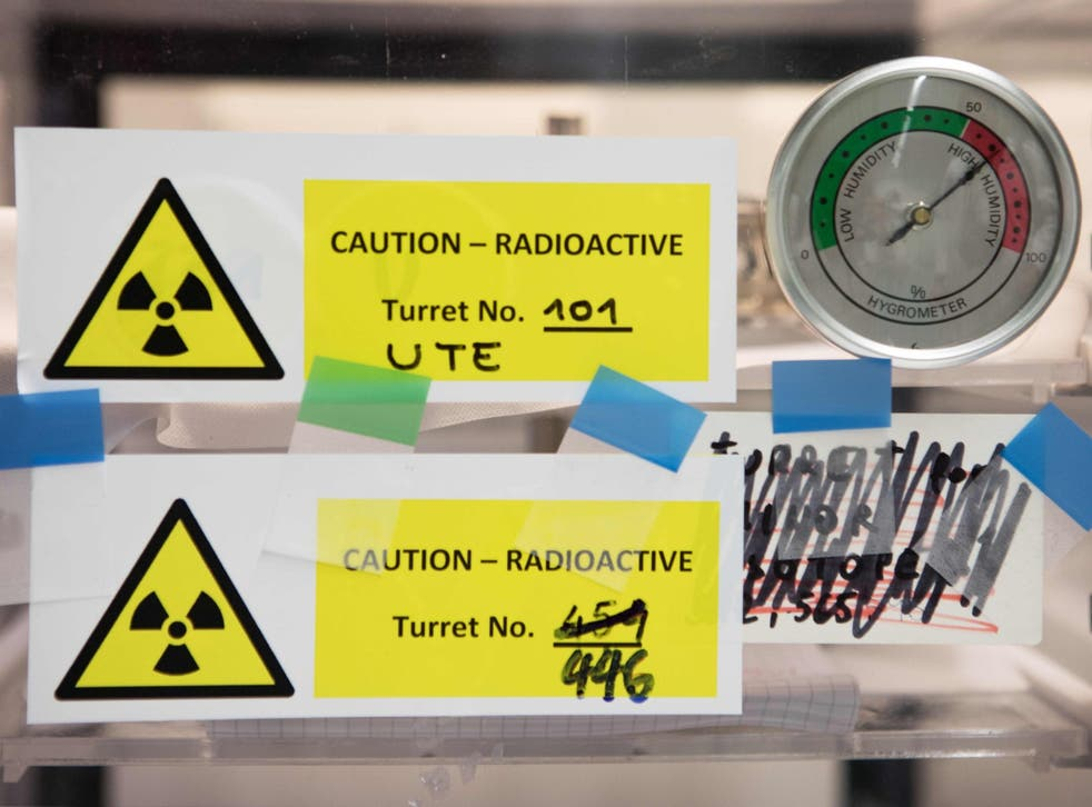 Radioactive material at the laboratories of the International Atomic Energy Agency in Seibersdorf, near Vienna
