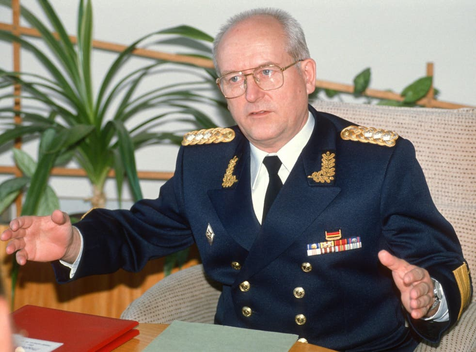 Hoffmann in 1991. During his brief tenure he abolished the grandiose parades that had been a regular feature of East German military life