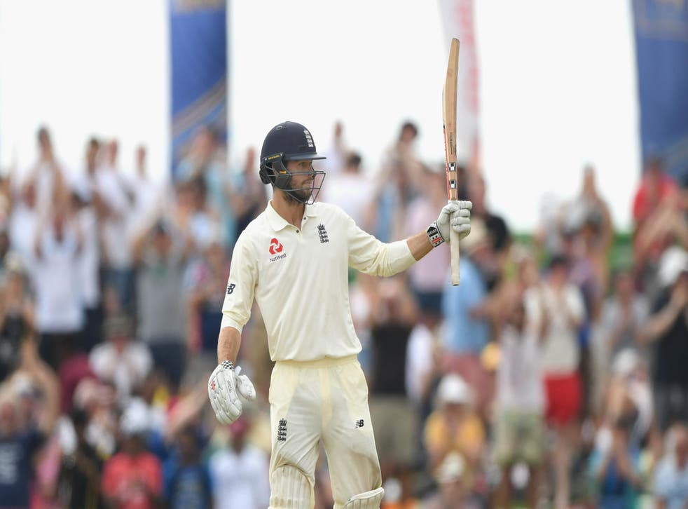 Ben Foakes celebrates his 50 on his Test debut for England
