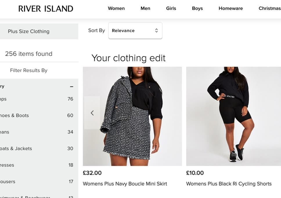 River Island removes plus-size range from all UK stores