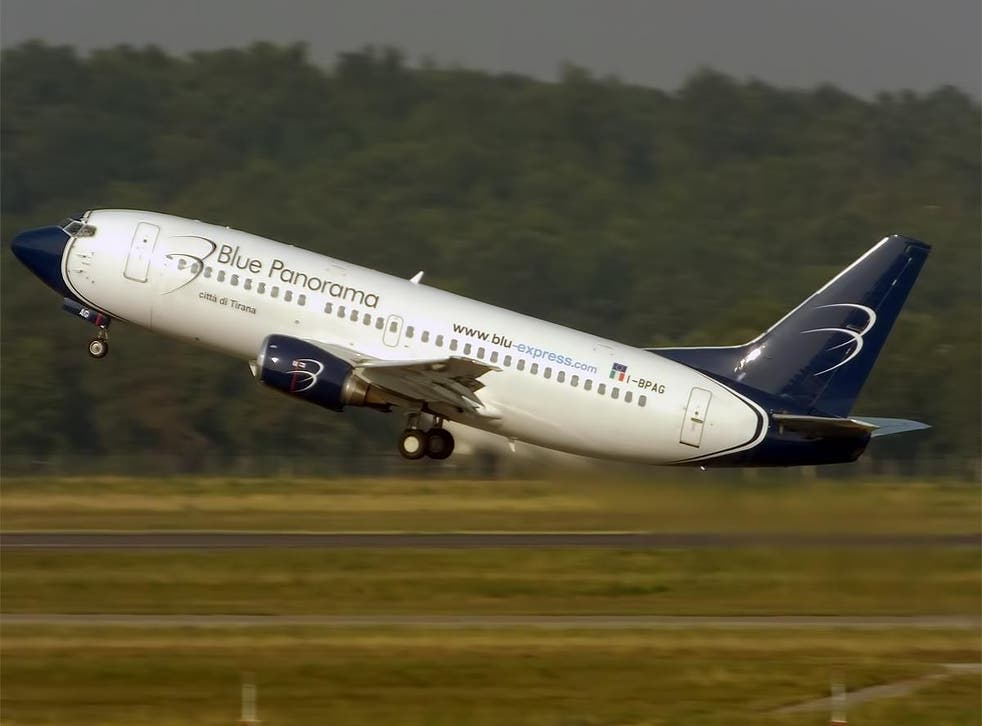 Long gone: Blue Panorama Boeing 737 taking off