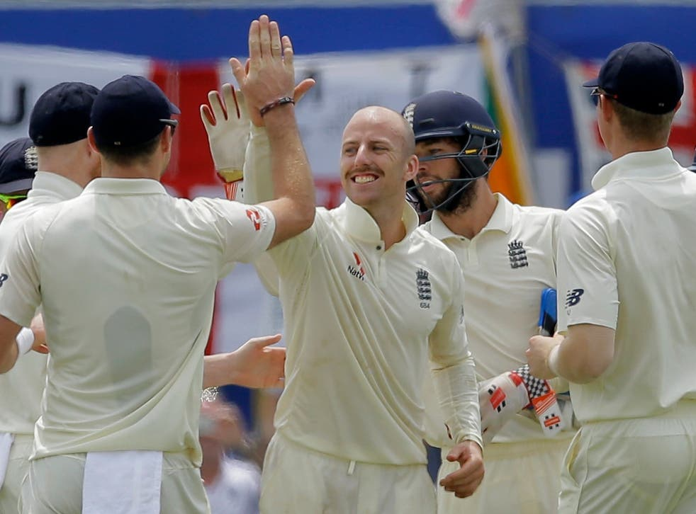 Leach helped spin England into a first innings lead