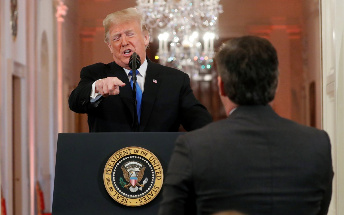 Trump attacks CNN's Jim Acosta