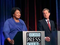 Republican Brian Kemp's lead narrows in Georgia governor race