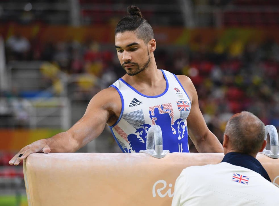 Louis Smith in action at the 2016 Olympics in Rio