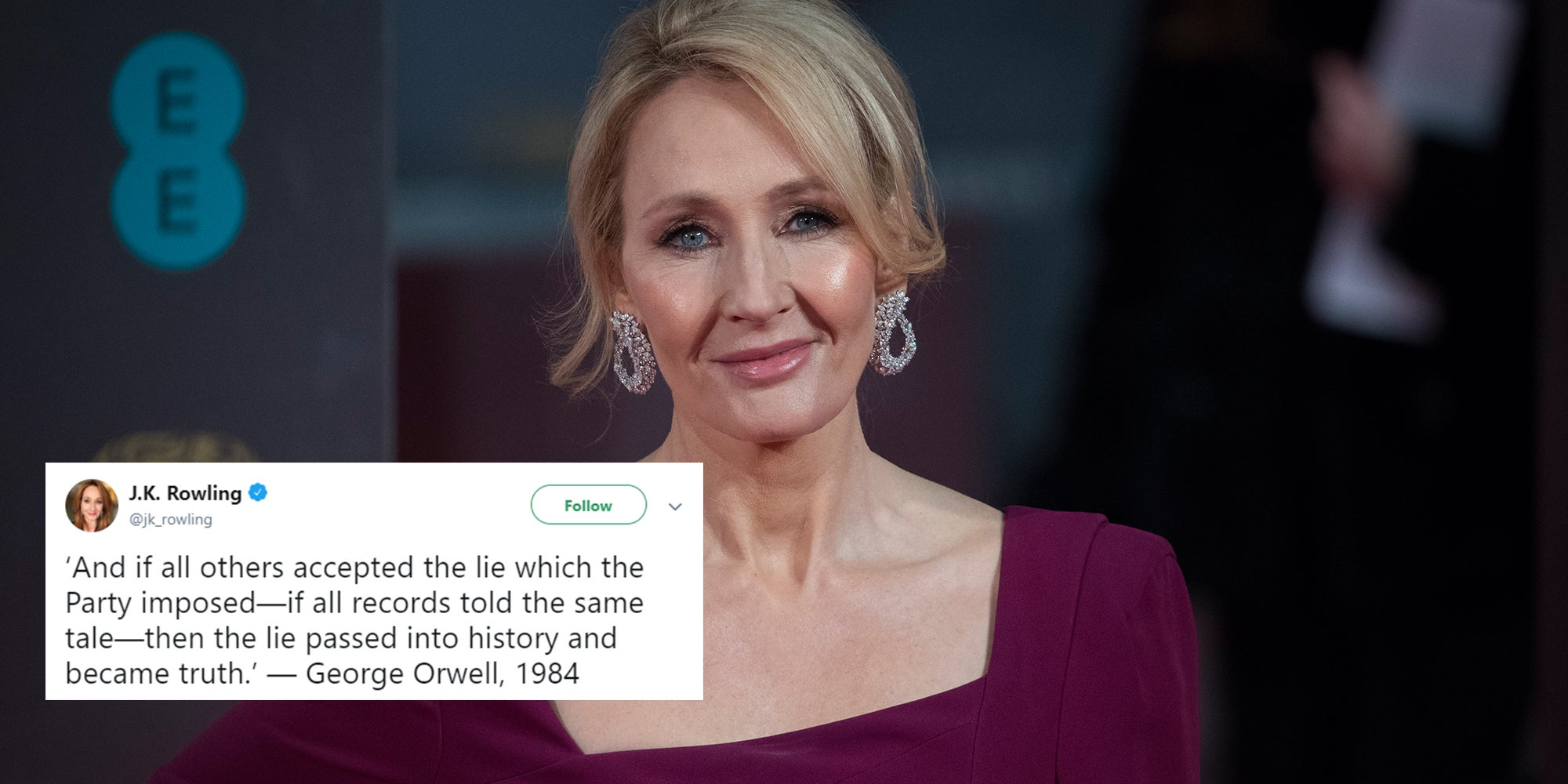 JK Rowling has tweeted about the Acosta video, and people are loving it