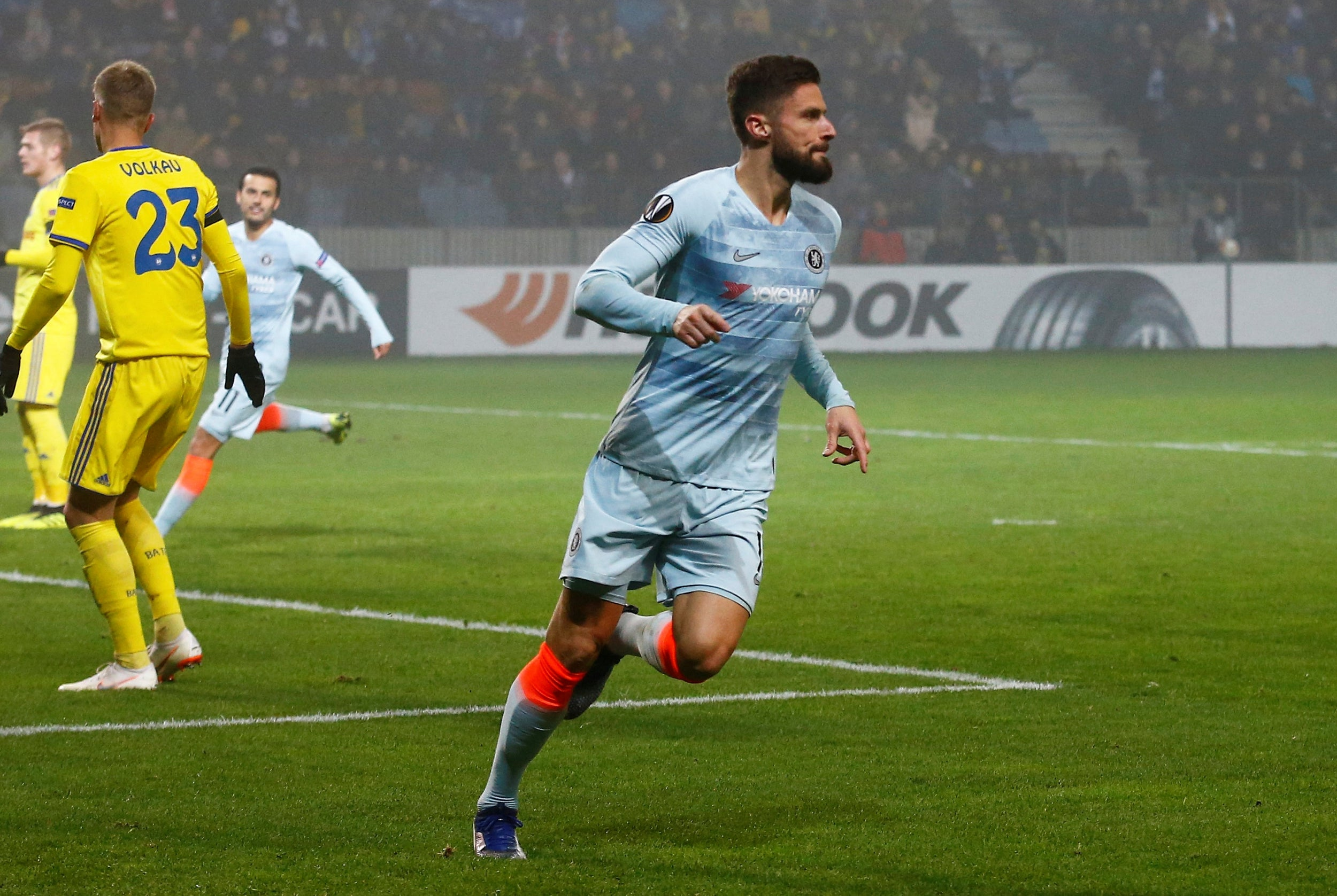 BATE Borisov vs Chelsea: Olivier Giroud ends goal drought to fire Blues to Europa League knockout round