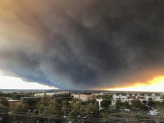 Wildfire visible from space forces evacuation in California