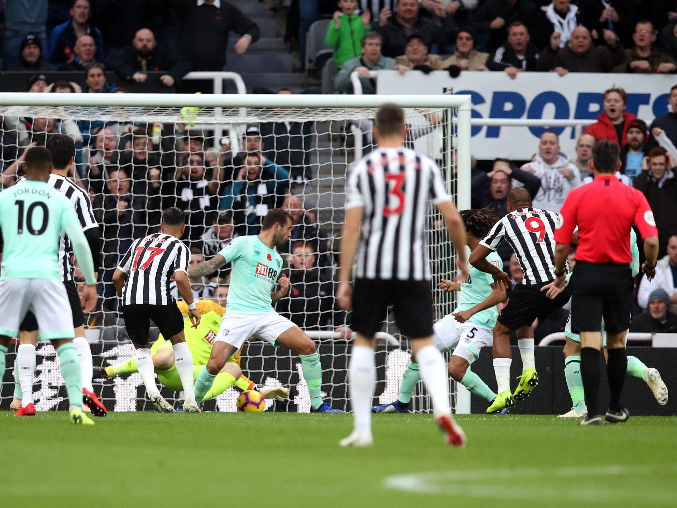 Salomon Rondon scores twice as Newcastle beat high-flying Bournemouth
