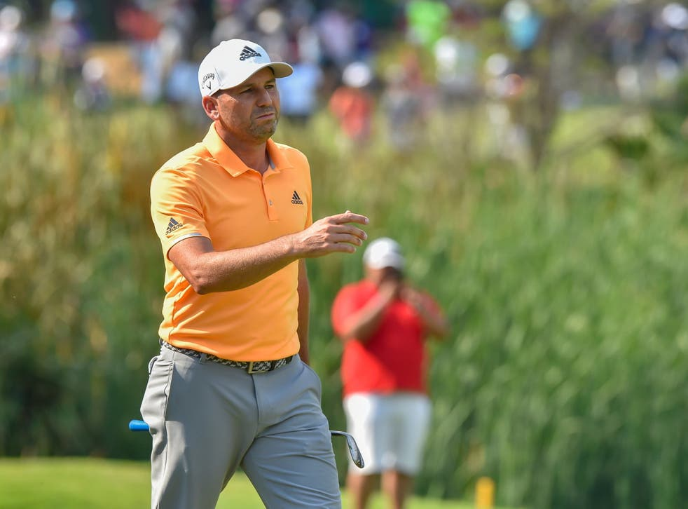 Sergio Garcia bogeyed the 18th giving encouragement to the field