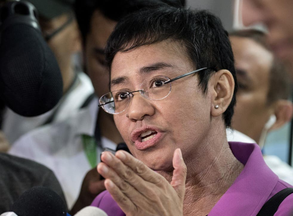 Maria Ressa said the charges are a 'clear form of continuing intimidation'