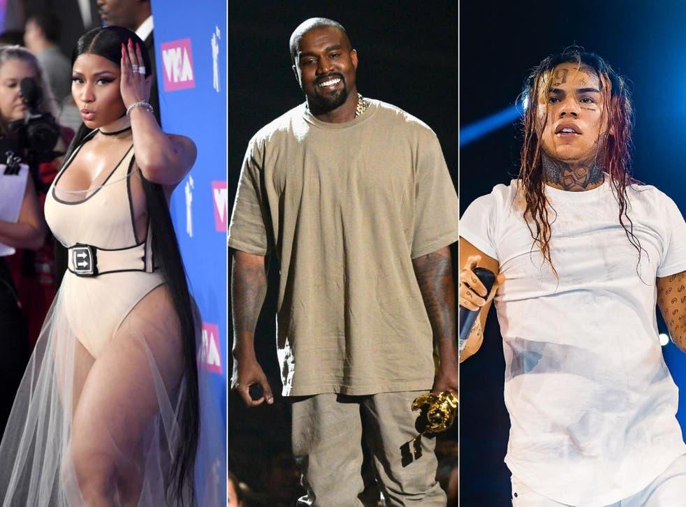 Nicki Minaj, Kanye West and 6ix9ine