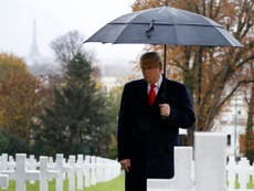 Trump missed WWI event to avoid causing traffic jams, White House says