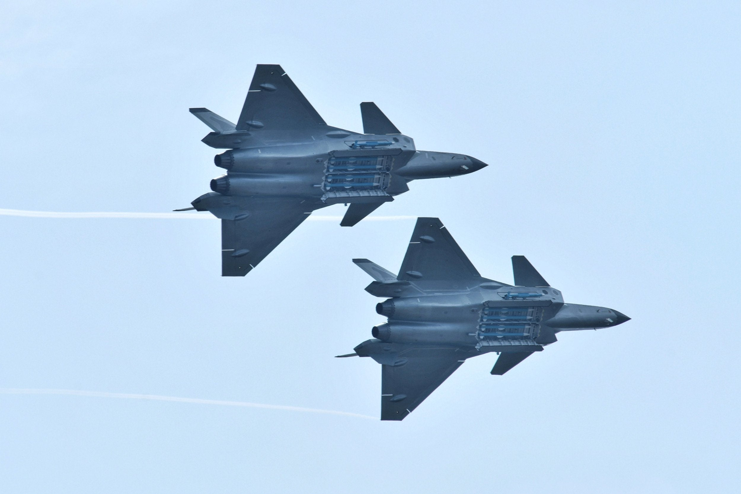 China unveils J-20 stealth fighter jet missiles as US ...
