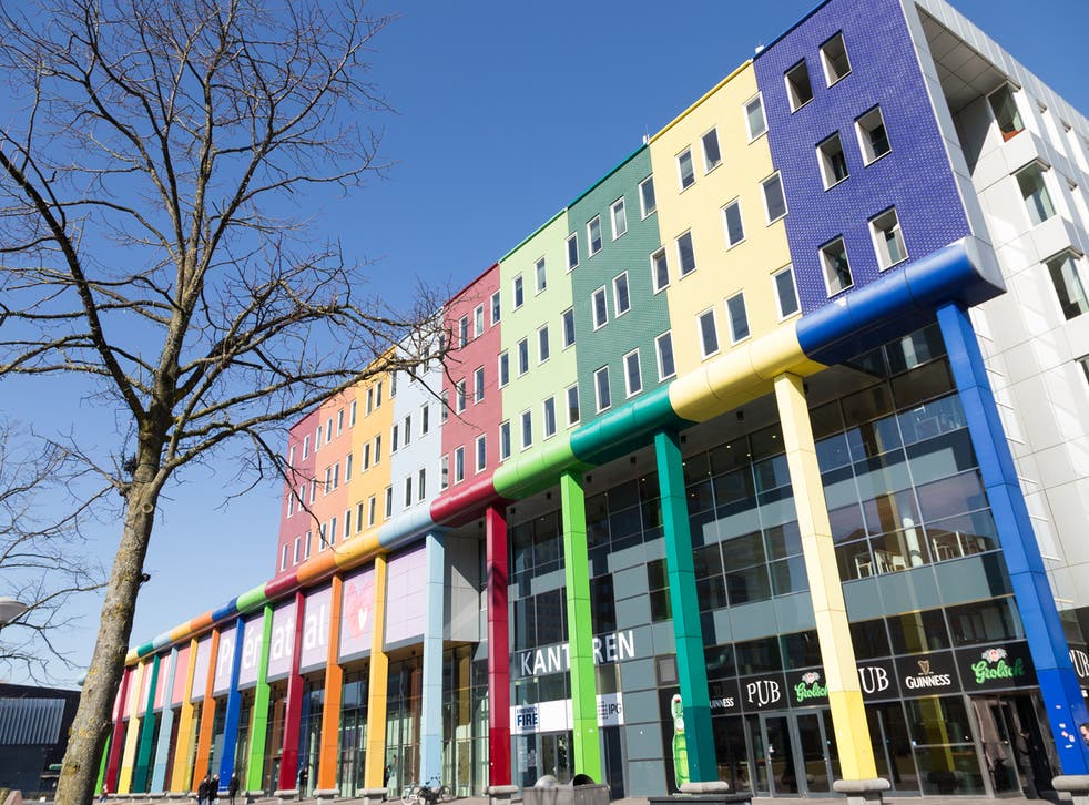 The neighbourhood has seen huge regeneration over the last 30 years, with colorful buildings such as the Amsterdam Bijlmer Arena