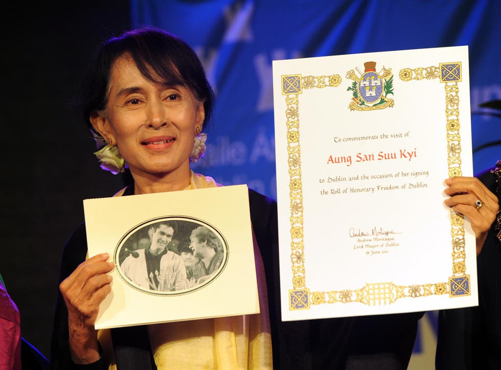 Aung San Suu Kyi was named as Amnesty International's Ambassador of Conscience in 2009 'in recognition of her peaceful and non-violent struggle for democracy and human rights'