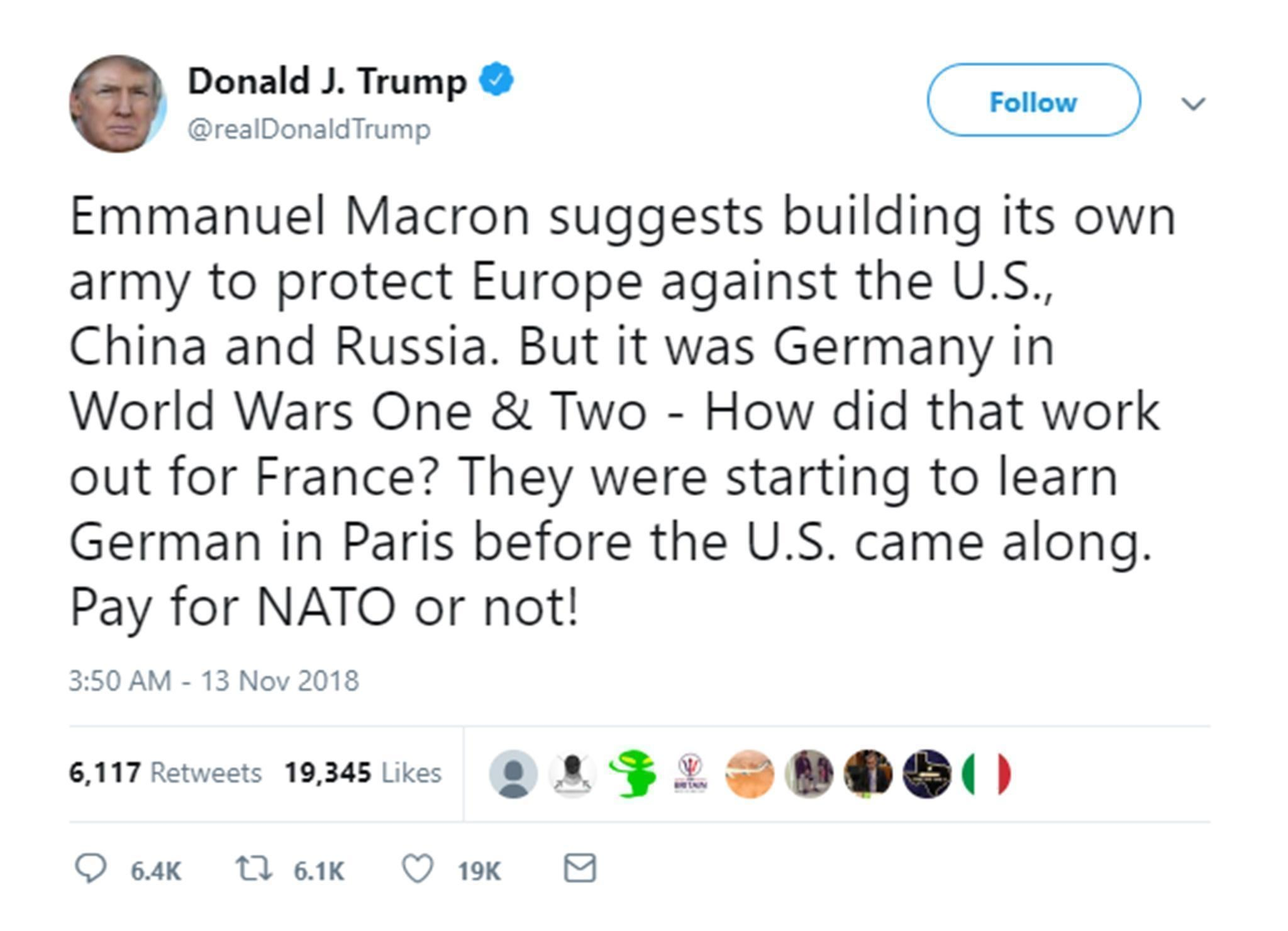 Joked about the Nazi occupation of France to President Macron