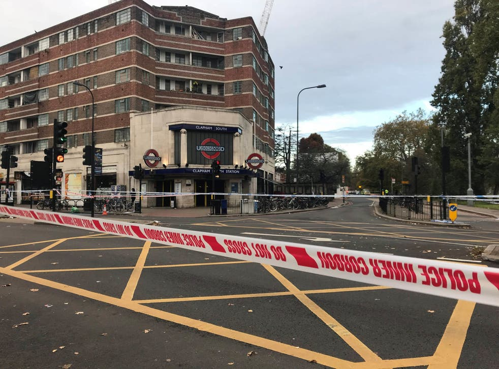 A 17-year-old boy was stabbed outside Clapham South station on Friday