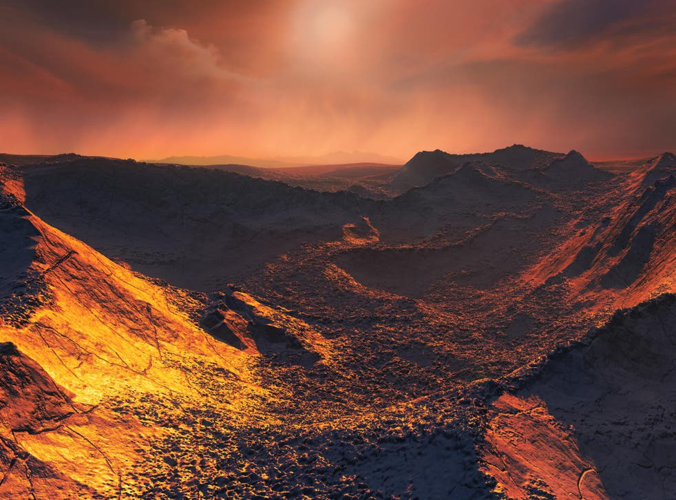 Artist's impression of the surface of the newly discovered distant planet