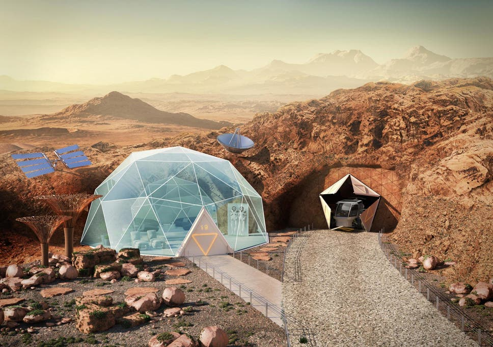 Life on Mars: Experts visualise what living on the Red Planet would