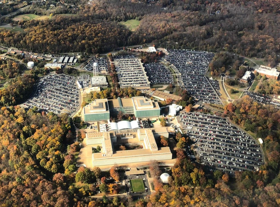 The headquarters of the US Central Intelligence Agency (CIA) in Langley, Virginia
