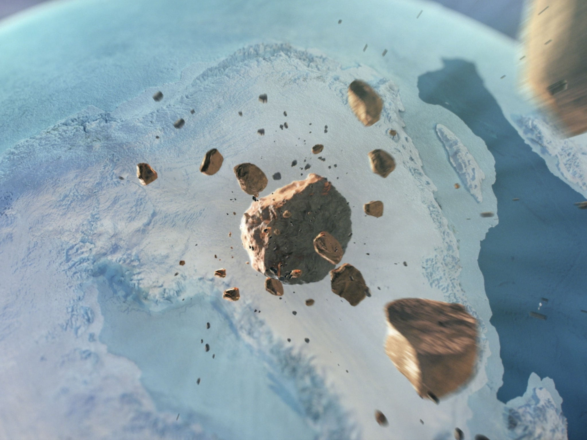 Giant meteorite crater bigger than Paris found beneath Greenland's ice sheet