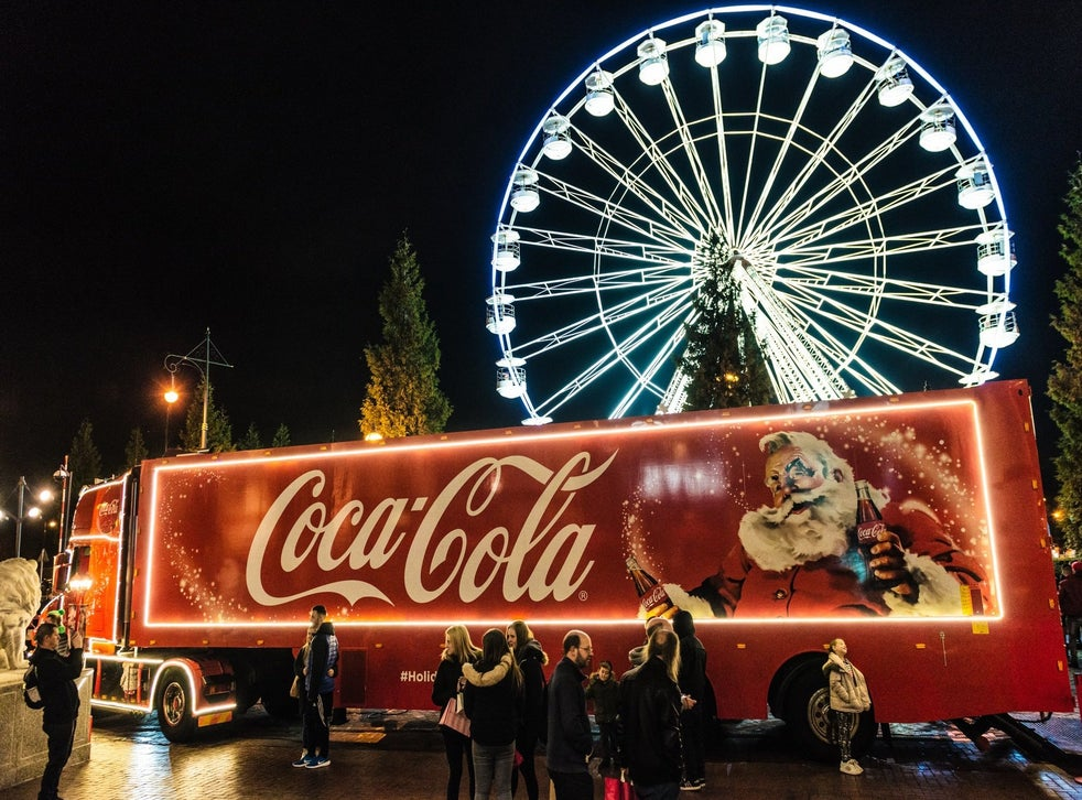 Coca Cola S Christmas Truck Tour Scaled Back After Protests From Health Campaigners The Independent The Independent