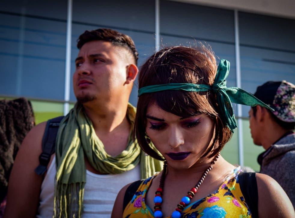 A total of 85 LGBT asylum seekers arrived at the order city of Tijuana (Joebeth Terriquez /