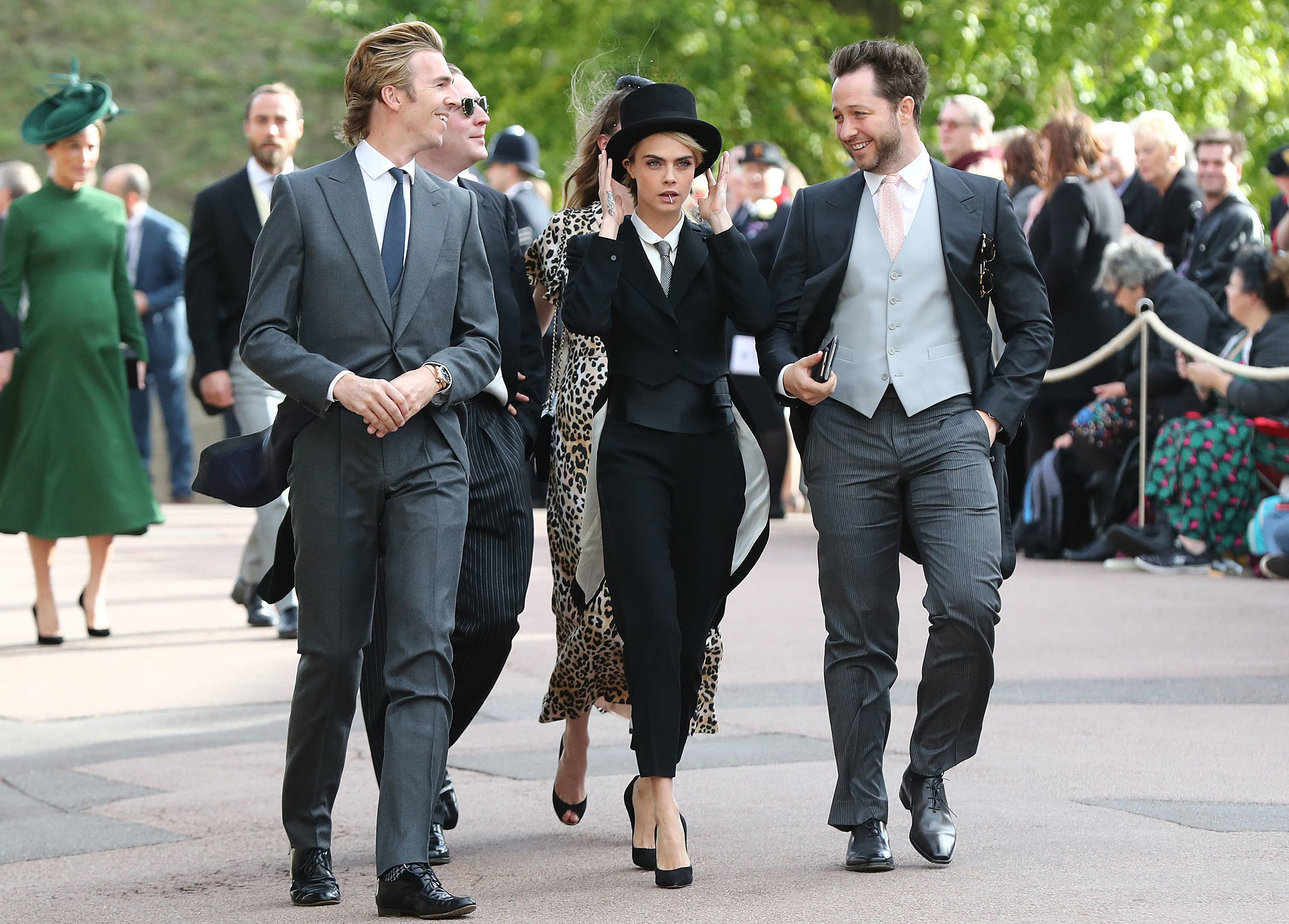 Cara Delevingne Asked Princess Eugenie S Permission To Wear Tuxedo To Royal Wedding The Independent The Independent Karoline copping broadway and theatre credits. wear tuxedo to royal wedding