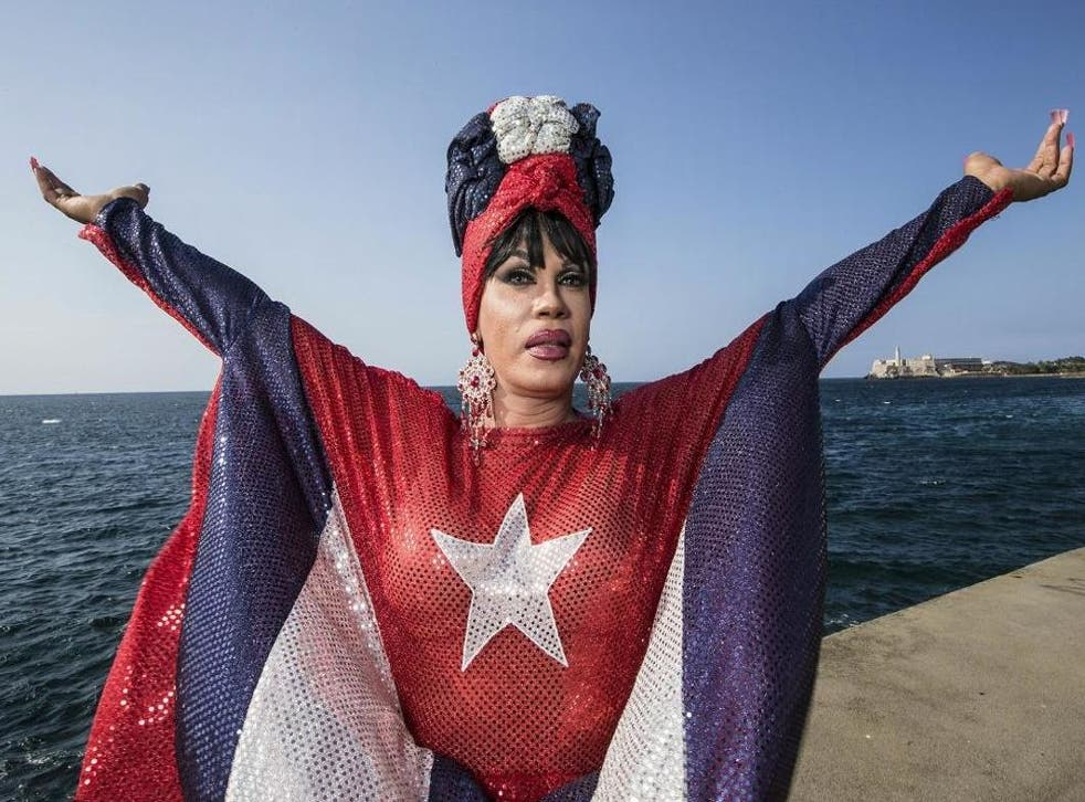 Imperio de Cuba, a trans activist and drag queen, is one of Havana's most iconic LGBT entertainers.