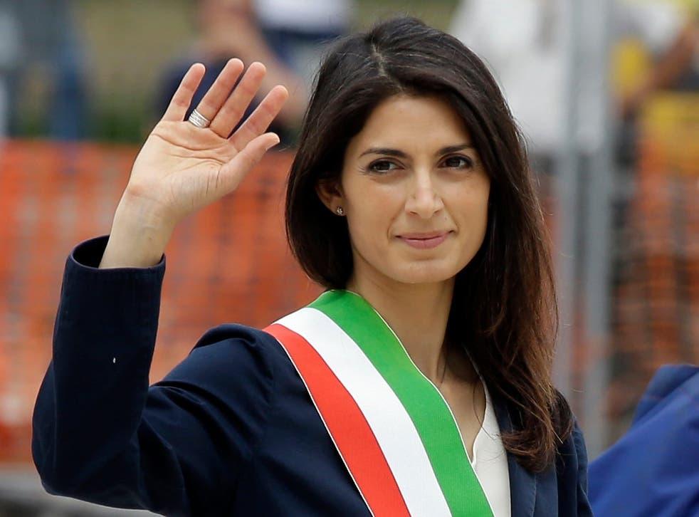 Mayor of Rome Virginia Raggi represents Five Star Movement